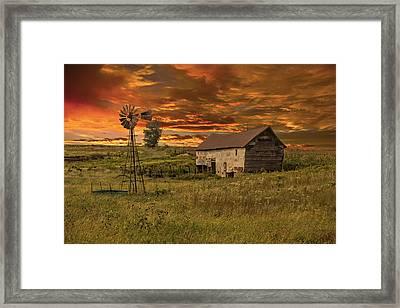 Prairie Barn Framed Print by Jonas Wingfield