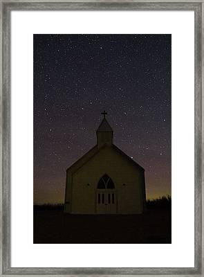 Prairie Church Framed Print by Megan Hoffman