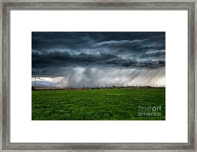 Prairie Squall I Framed Print by Jamie Tipton