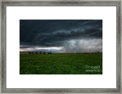 Prairie Squall II Framed Print by Jamie Tipton