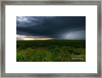 Prairie Storm Framed Print by Jamie Tipton