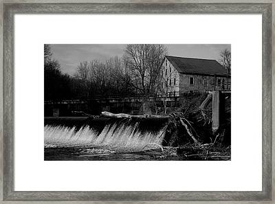 Prallsville Mill - Stockton New Jersey Framed Print by Val Arie