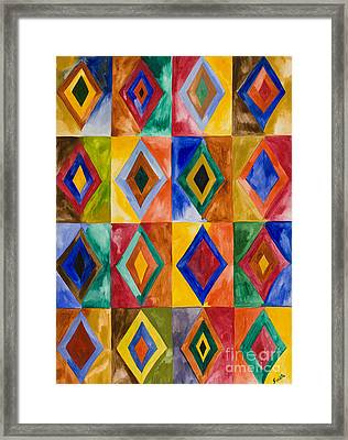 Prana Diamonds Framed Print by Sweta Prasad