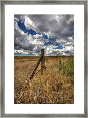 Prarie Sky Framed Print by Peter Tellone