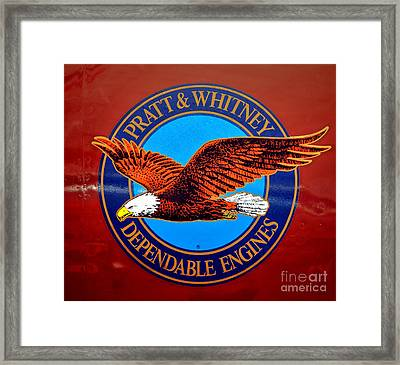 Pratt And Whitney Framed Print by Olivier Le Queinec