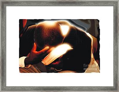 Pray For Us Framed Print by Bob Salo