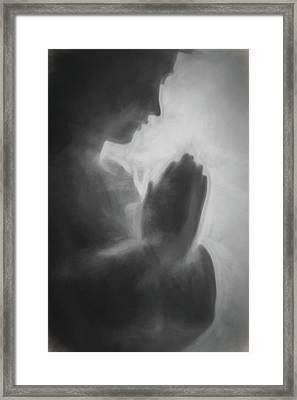 Prayer Black And White Framed Print by Terry DeLuco