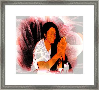 Prayer Changes Things Framed Print by Fania Simon