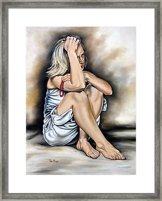 Prayer II Framed Print by Ilse Kleyn