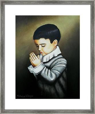 Prayer Framed Print by Monica  Vega