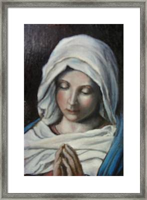Prayer Framed Print by Sorin Apostolescu