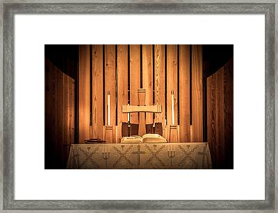 Prayer Time Framed Print by Art Spectrum