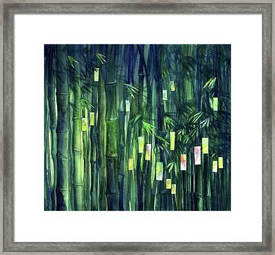 Prayer Tree IIi Framed Print by Janet Chui