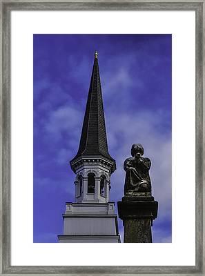 Praying Angel Framed Print by Garry Gay