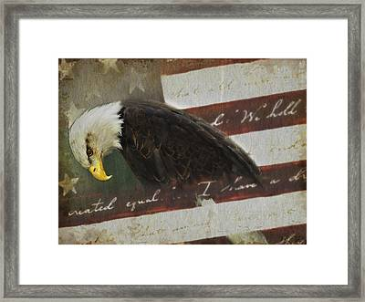 Praying For Our Country Framed Print by Kathy Jennings