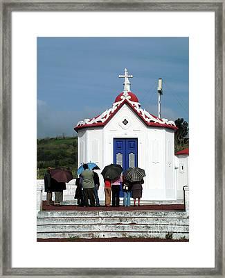 Praying Framed Print by Gaspar Avila