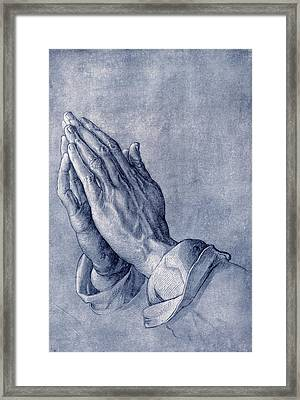 Praying Hands, Art By Durer Framed Print by Sheila Terry