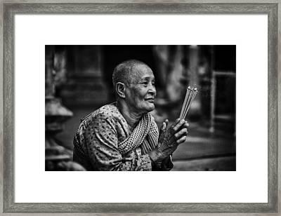 Prays For The Dead Framed Print by David Longstreath