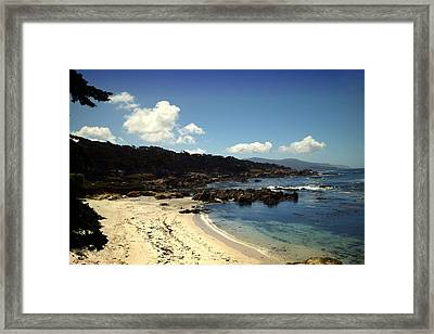 Prbble Beach Shoreline Two Framed Print by Joyce Dickens