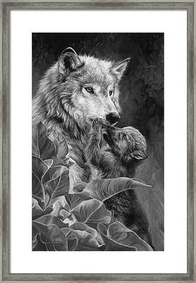 Precious Moment - Black And White Framed Print by Lucie Bilodeau