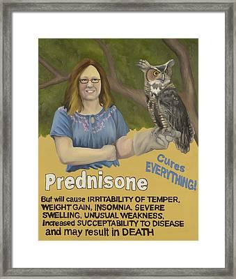 Prednisone Framed Print by Beatrice Rudolph