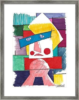 Pregare Framed Print by Teddy Campagna
