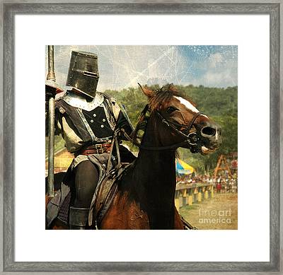 Prepare The Joust Framed Print by Paul Ward