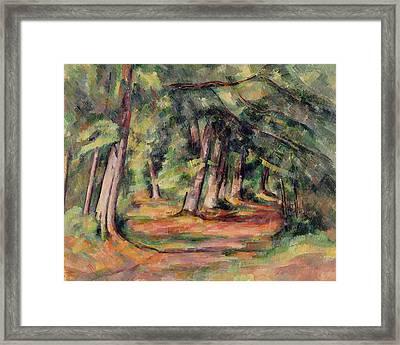 Pres Du Jas De Bouffan Framed Print by Paul Cezanne