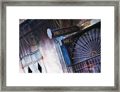 Preservation Hall Sign Framed Print by Jeremy Woodhouse