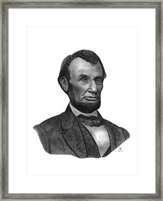President Abraham Lincoln Framed Print by Charles Vogan