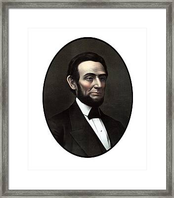 President Abraham Lincoln  Framed Print by War Is Hell Store