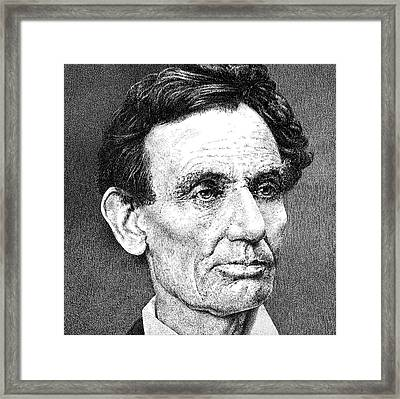 President Abraham Lincoln Framed Print by William Beauchamp