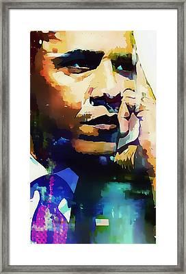 President Barack Obama Framed Print by Lynda Payton