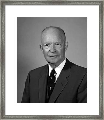 President Eisenhower Framed Print by War Is Hell Store