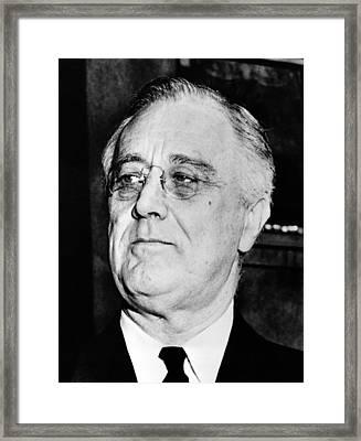 President Franklin Delano Roosevelt Framed Print by War Is Hell Store