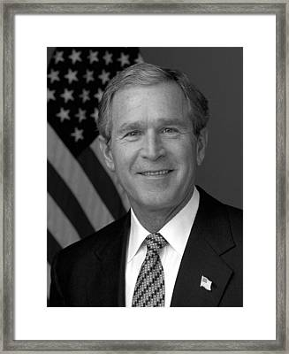 President George W. Bush Framed Print by War Is Hell Store
