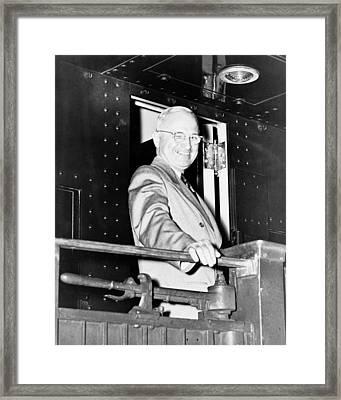 President Harry Truman Framed Print by War Is Hell Store