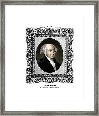 President John Adams Portrait  Framed Print by War Is Hell Store