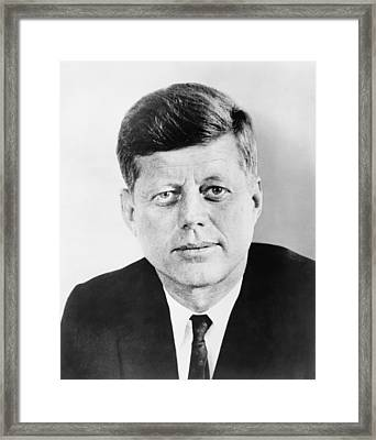 President John F. Kennedy Framed Print by War Is Hell Store
