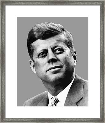 President Kennedy Framed Print by War Is Hell Store