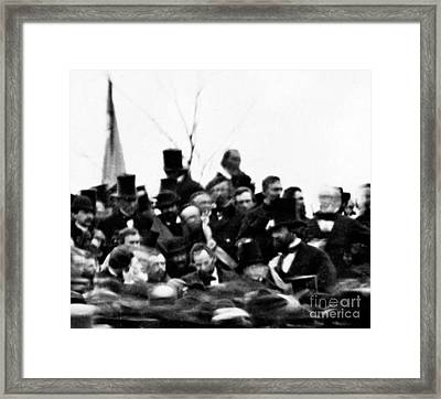 President Lincoln, Cemetery Dedication Framed Print by Science Source