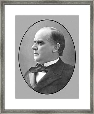 President Mckinley Framed Print by War Is Hell Store