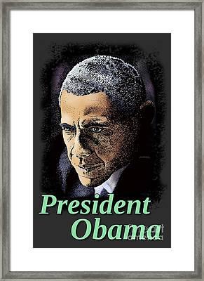 President Obama Framed Print by Joseph Juvenal