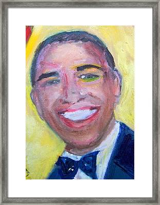 President Obama Framed Print by Patricia Taylor