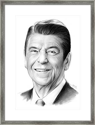 President Ronald Reagan Framed Print by Greg Joens