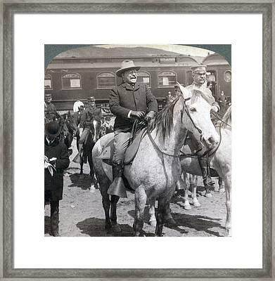 President Roosevelts Western Tour-- Framed Print by Everett
