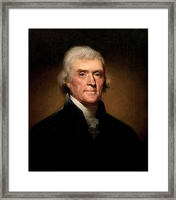 President Thomas Jefferson  Framed Print by War Is Hell Store