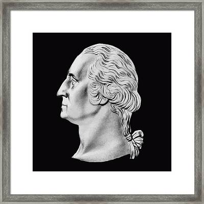 President Washington Bust  Framed Print by War Is Hell Store