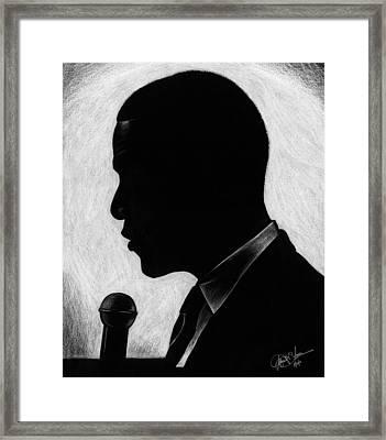 Presidential Silhouette Framed Print by Jeff Stroman