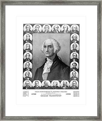 Presidents Of The United States 1789-1889 Framed Print by War Is Hell Store
